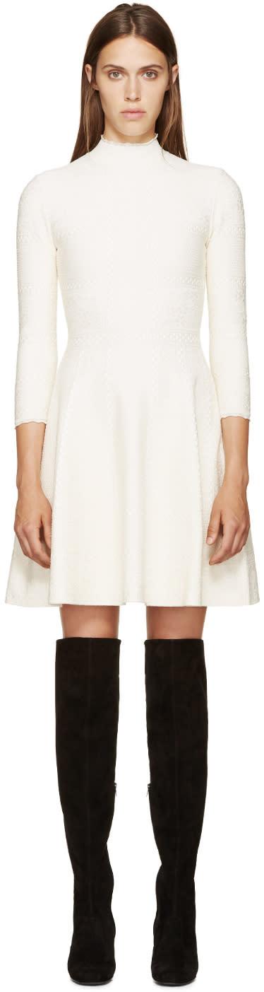 Alexander Mcqueen White Lace A-line Dress