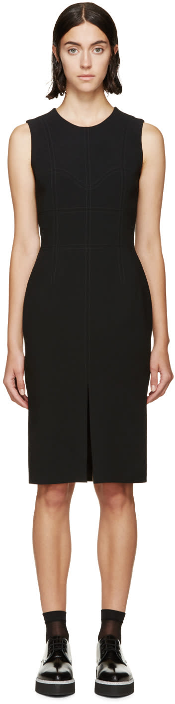 Alexander Mcqueen Black Wool Paneled Dress