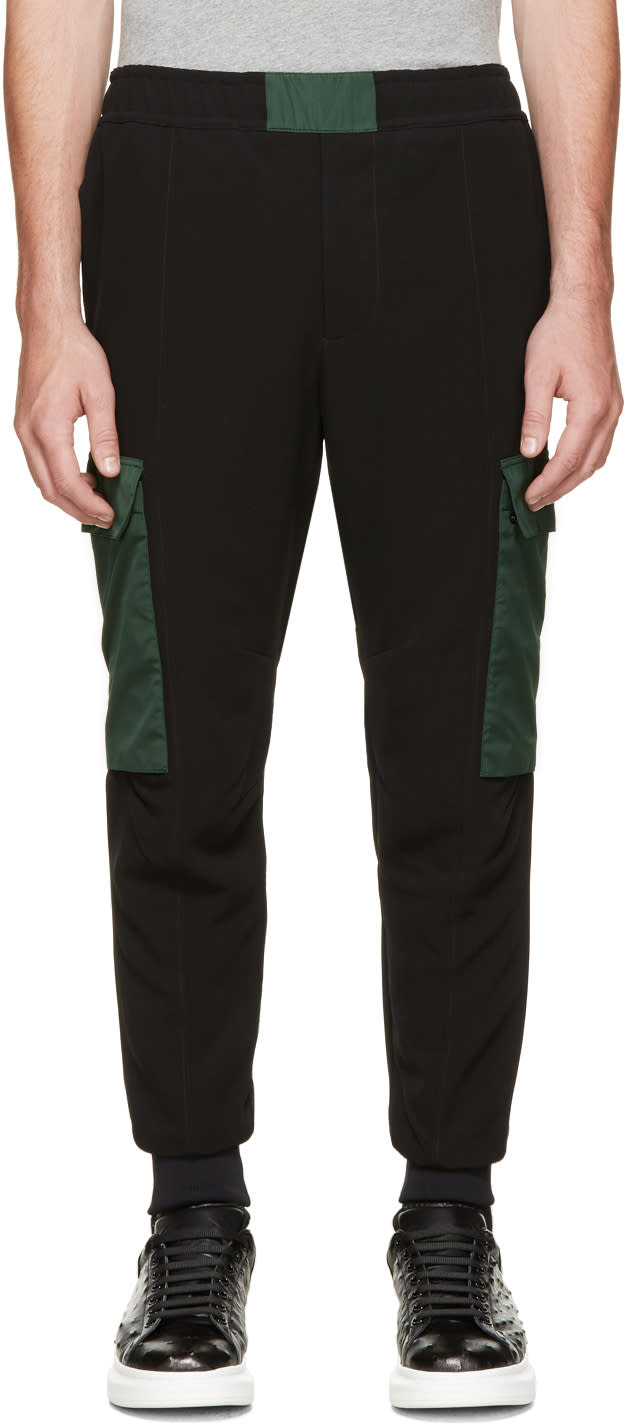 Alexander Mcqueen Black and Green Lounge Pants