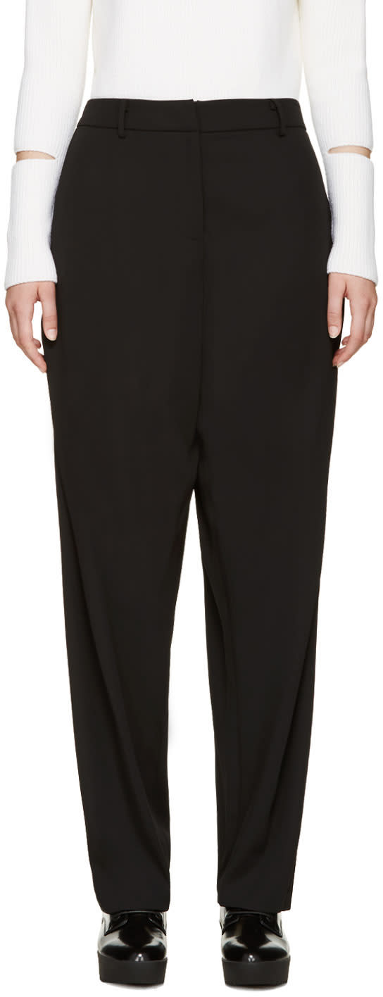 Opening Ceremony Black Wide-leg Moodle Trousers