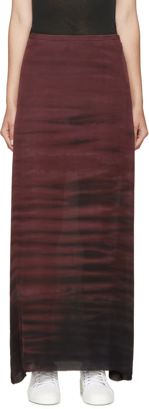 Raquel Allegra Plum Sunset Silk Skirt