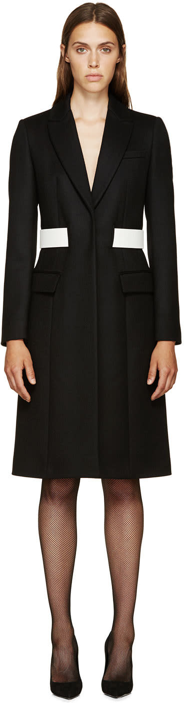 Givenchy Black Wool Belted Coat