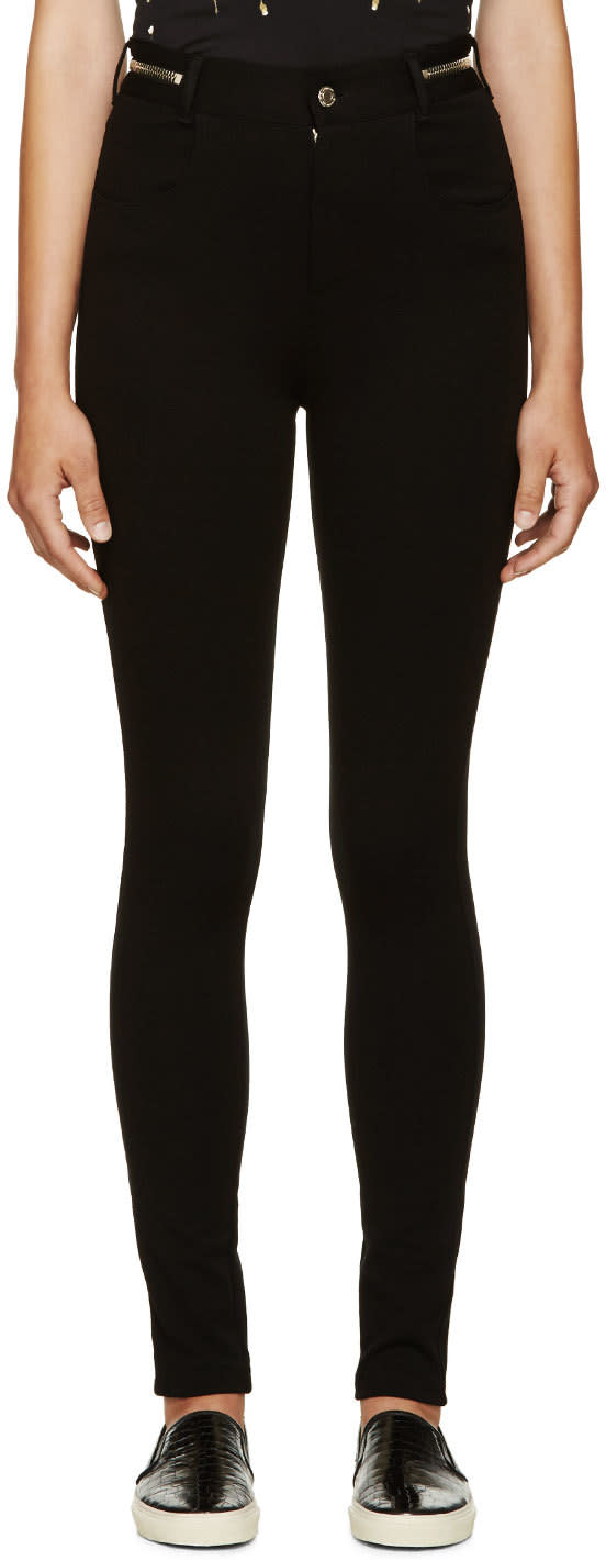 Givenchy Black Punto Milano Leggings