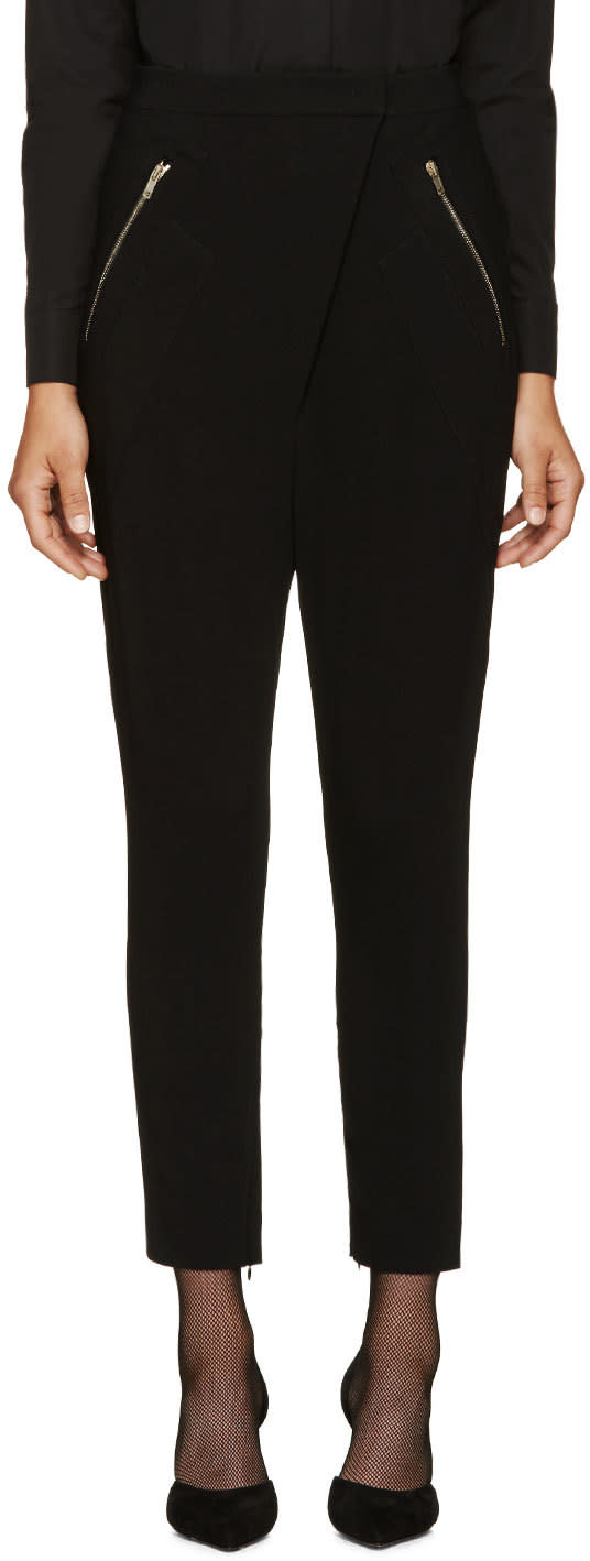Givenchy Black Stretch Sarouel Trousers