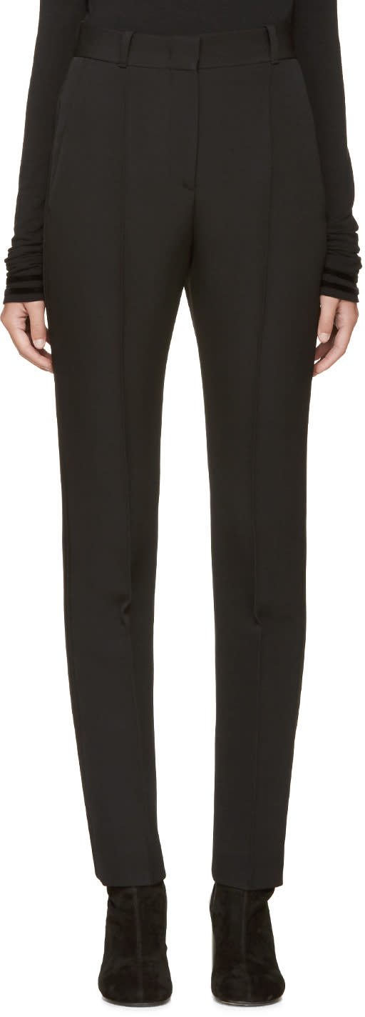 Givenchy Black Satin Inset Trim Trousers