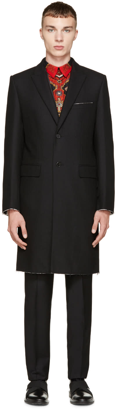 Givenchy Black Wool Single-breasted Coat