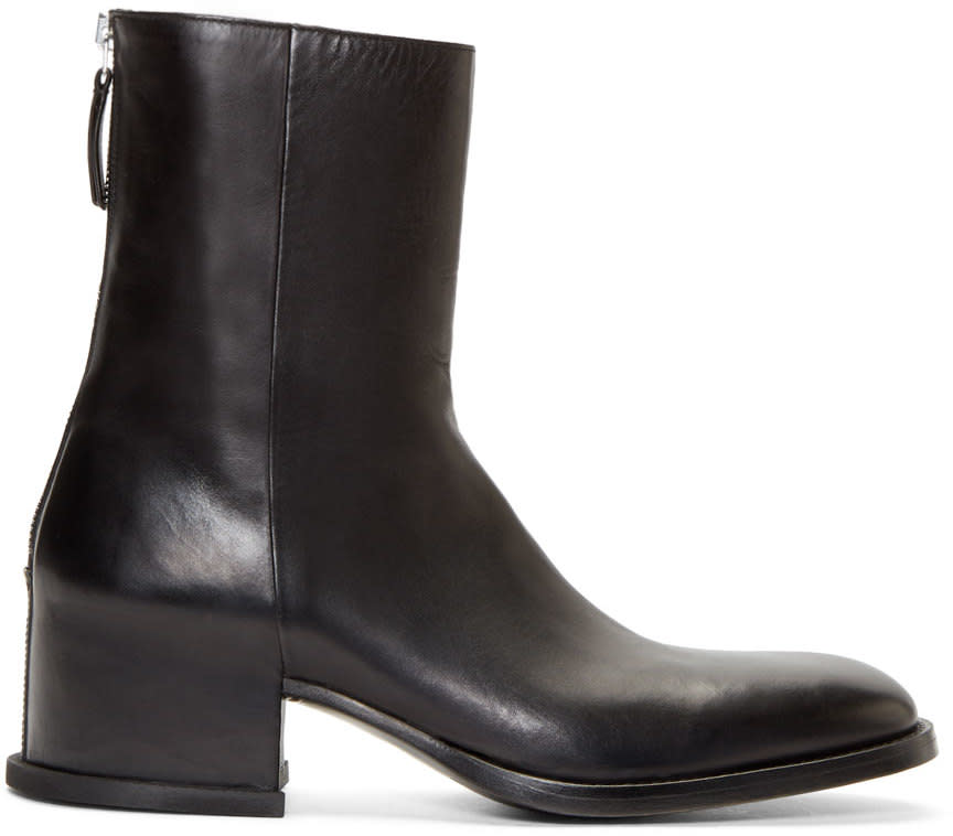 Givenchy Black Leather Paco Ankle Boots