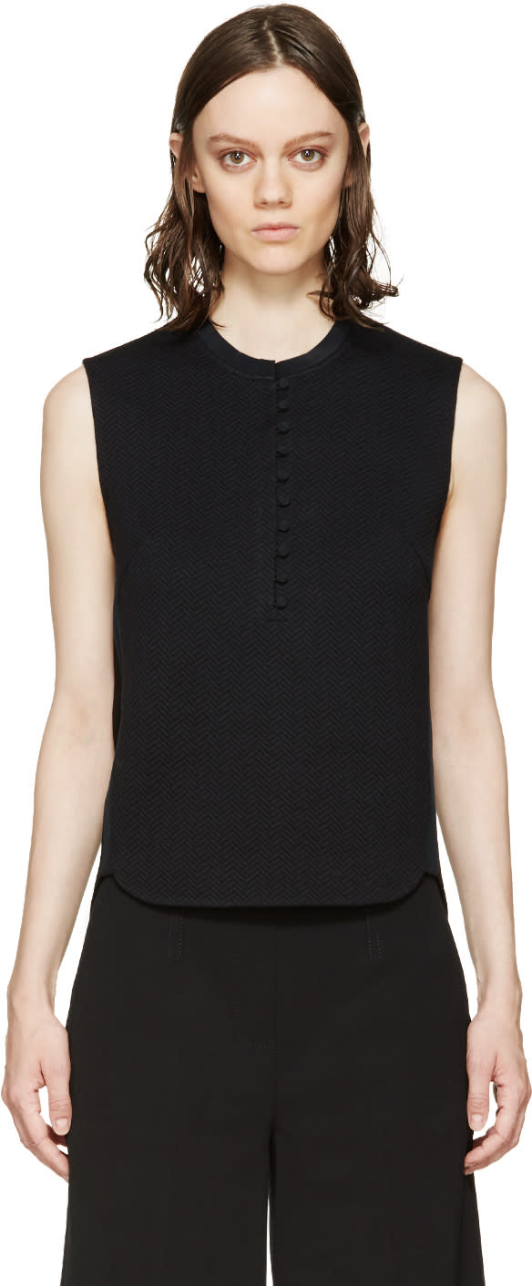 3.1 Phillip Lim Black Henley Top
