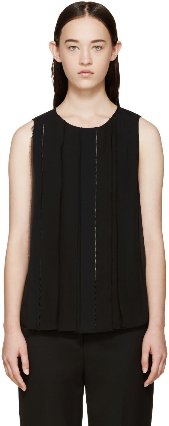 3.1 Phillip Lim Black Silk Trim Top