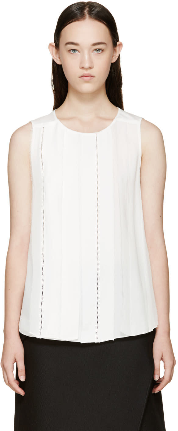 3.1 Phillip Lim White Silk Trim Top