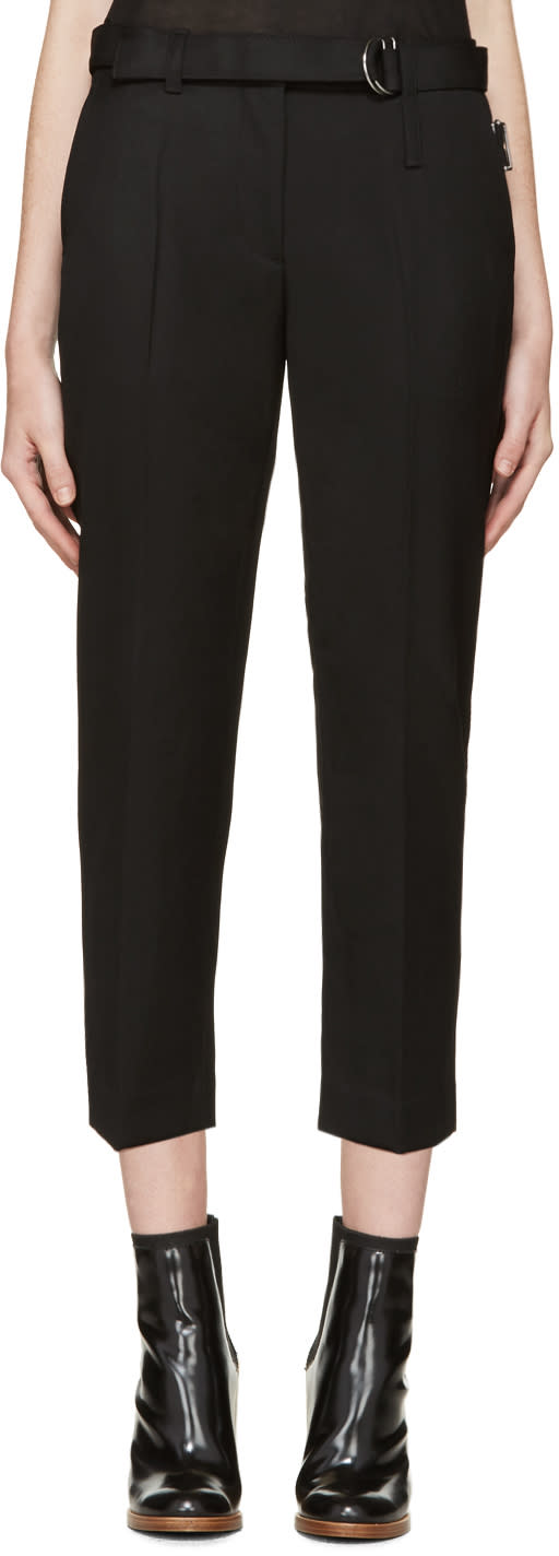 3.1 Phillip Lim Black Utility Strap Trousers
