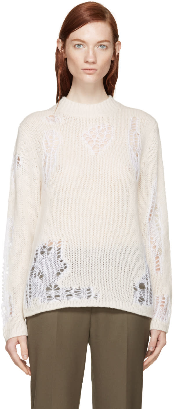 3.1 Phillip Lim Pink Wool Open-work Sweater