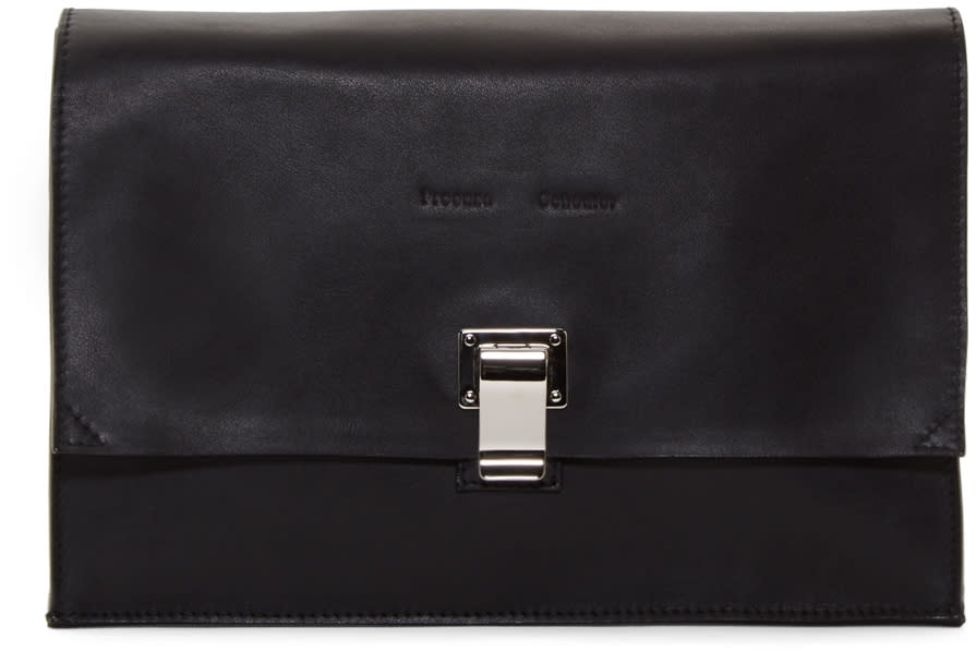 Proenza Schouler Black Leather Small Lunchbag