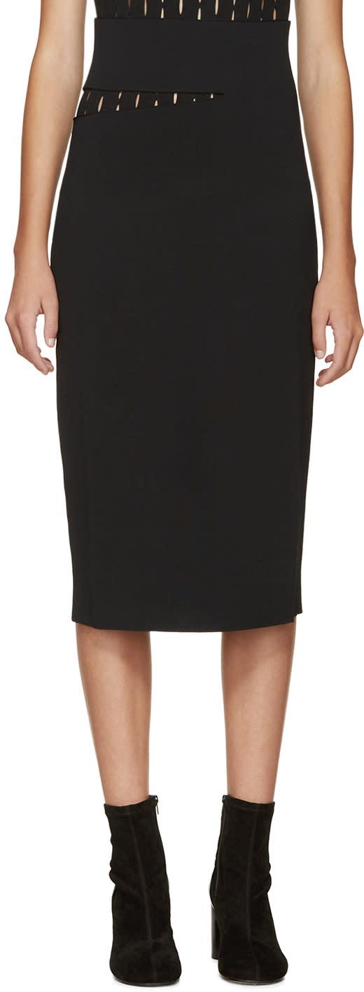Proenza Schouler Black Slit Skirt
