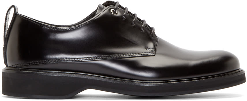 Want Les Essentiels Black Leather Montoro Derbys