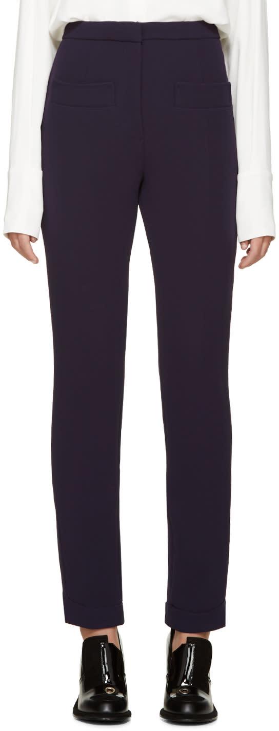 Carven Indigo Double Crepe Trousers