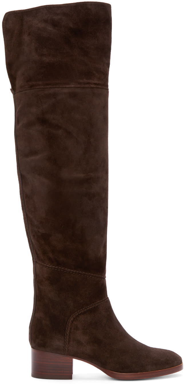 Chloe Brown Suede Over-the-knee Boots