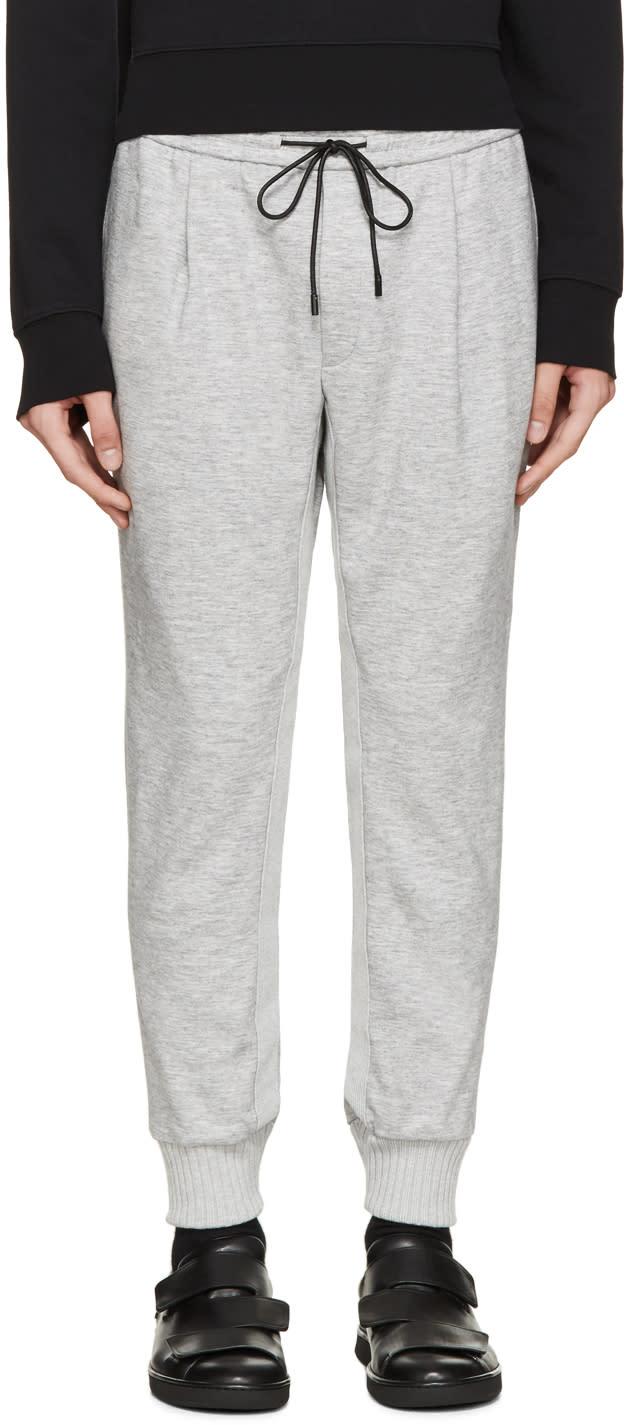 Juun.j Grey Cropped Jersey Lounge Pants