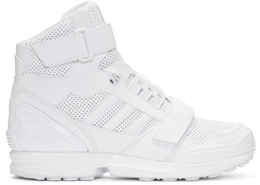 Juun.j White Leather High-top Adidas By Juun.j Sneakers