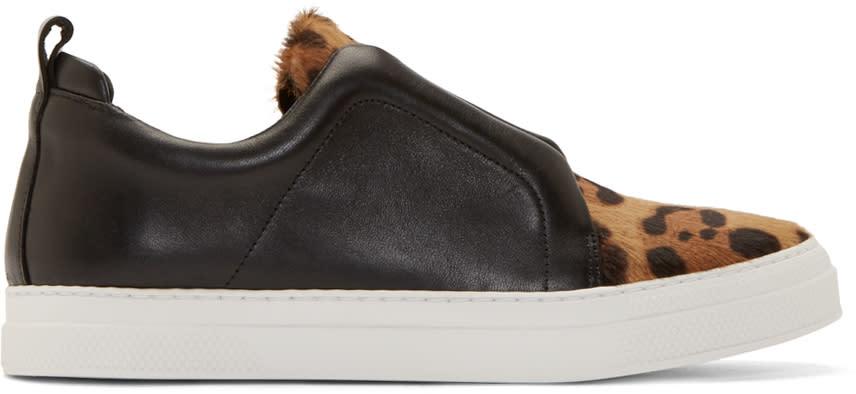 Pierre Hardy Black Stella Slip-on Sneakers