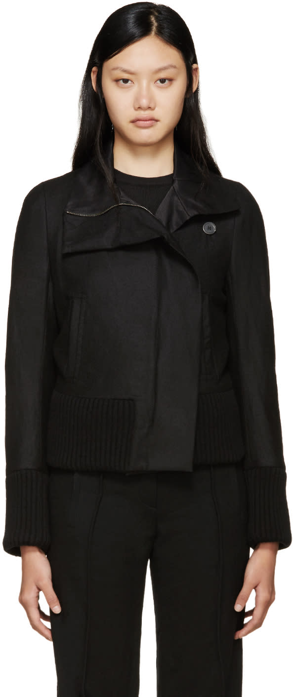 Ann Demeulemeester Black Wool Jacket