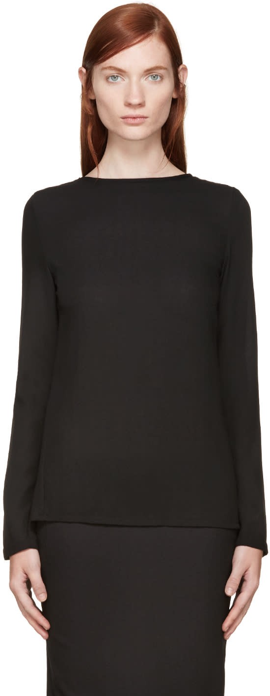 Ann Demeulemeester Black Open Back Top