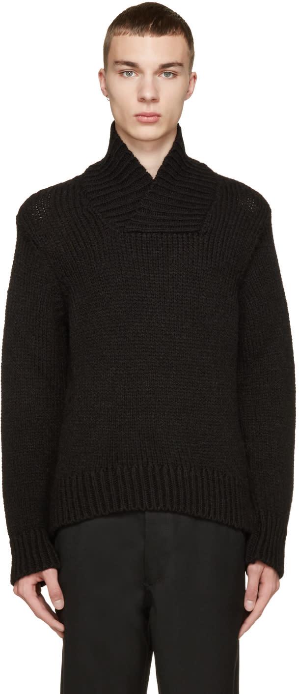 Ann Demeulemeester Black Alpaca Character Sweater