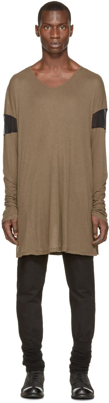 Ann Demeulemeester Green Overlong T-shirt
