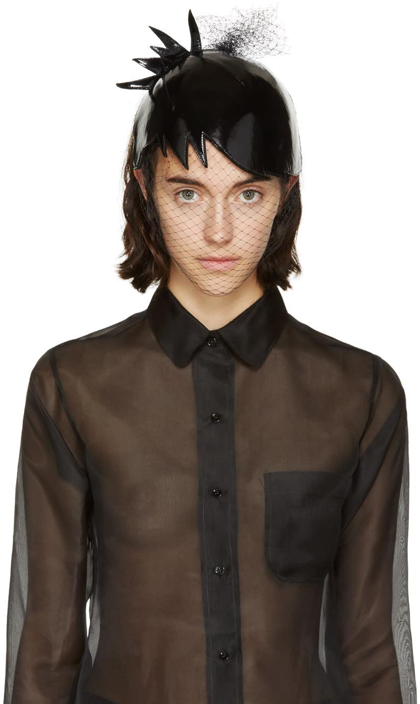 Thom Browne Black Veil Pixi Hair Cut Hat