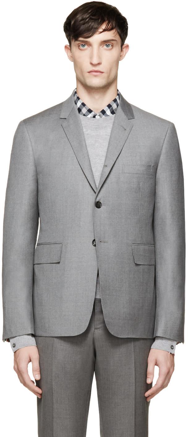 Thom Browne Grey Classic Suit Blazer