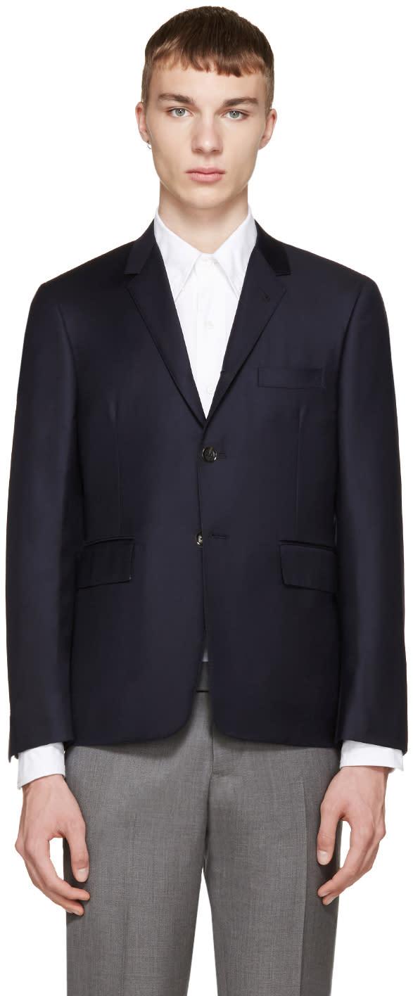 Thom Browne Navy Wool Blazer
