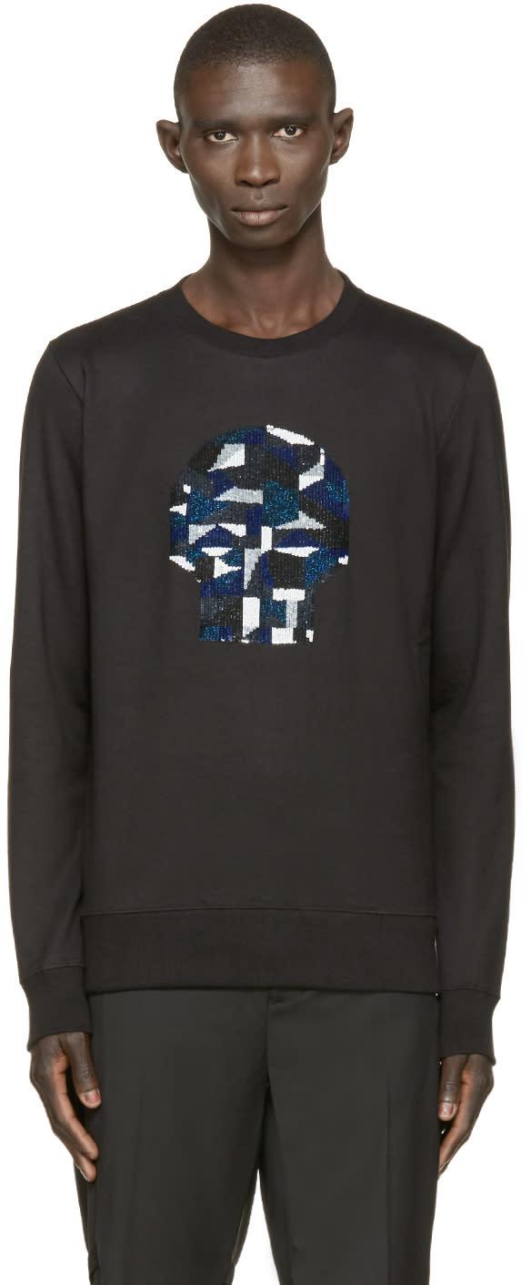 Markus Lupfer Black Sequin Skull James Sweatshirt
