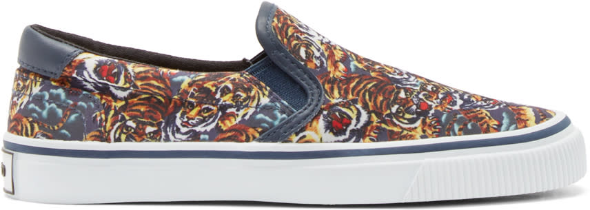 Kenzo Multicolor Flying Tiger Slip-on Sneakers