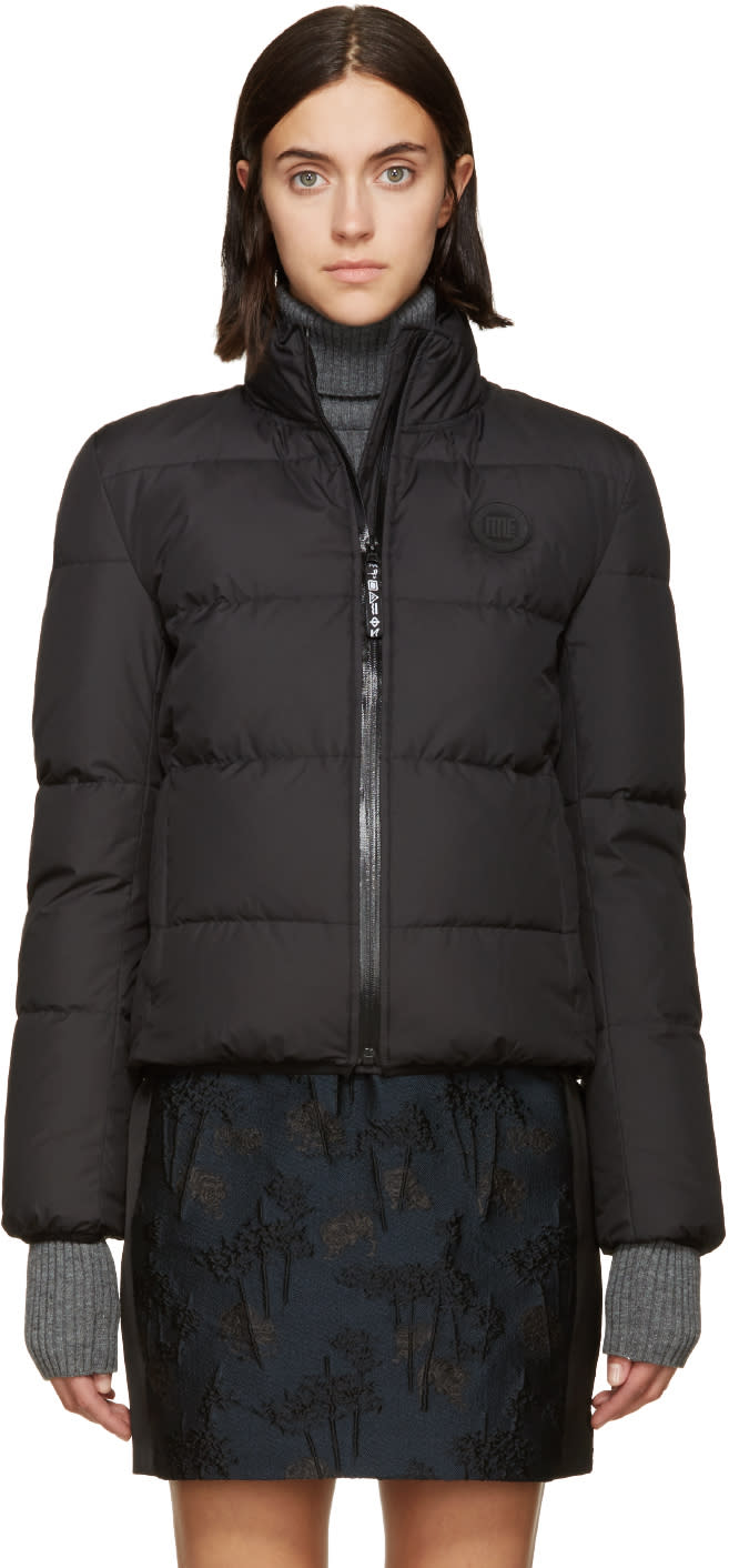 Kenzo Black Quilted Down Bomber Jacket