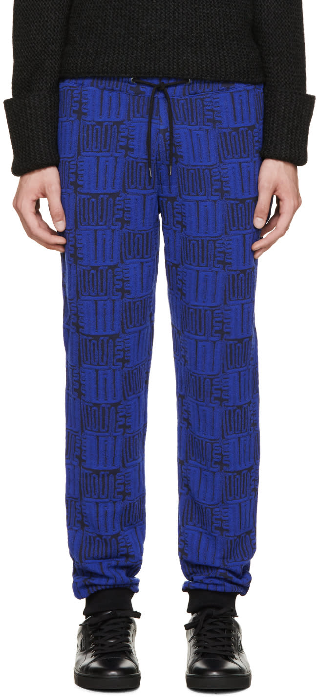 Kenzo Black and Blue Love Lounge Pants