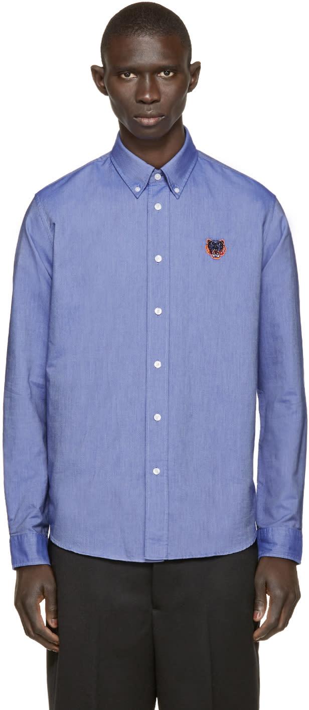 Kenzo Blue Tiger Logo Shirt