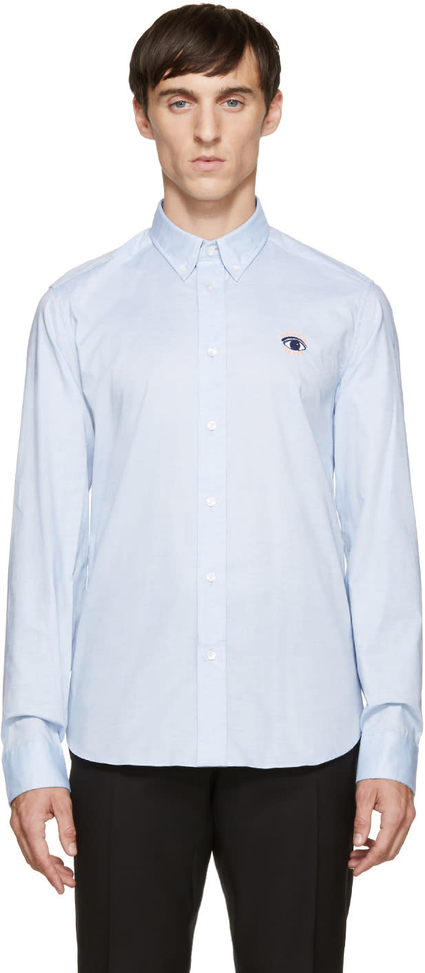 Kenzo Blue Eye Logo Oxford Shirt