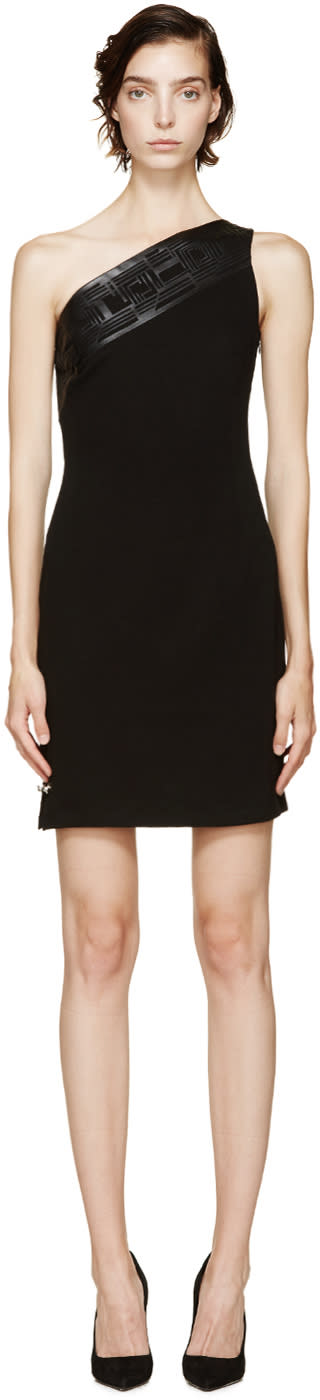 Versus Black One Shoulder Dress
