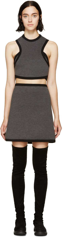 Image of Denis Gagnon Grey Mélange Air Marni Cutout Dress