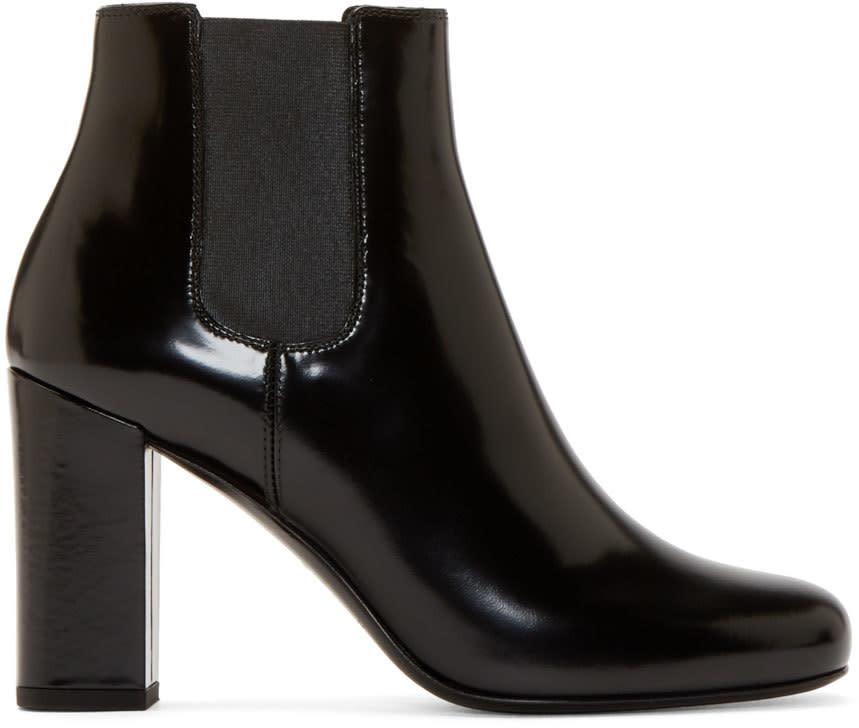 Saint Laurent Black Heeled Babies Boots