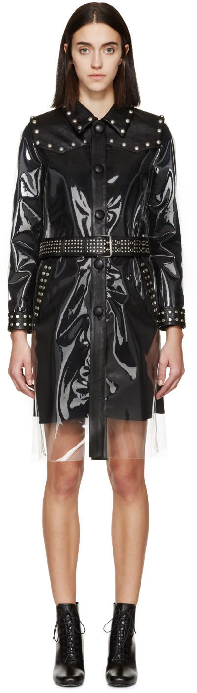 Saint Laurent Transparent and Black Rain Coat