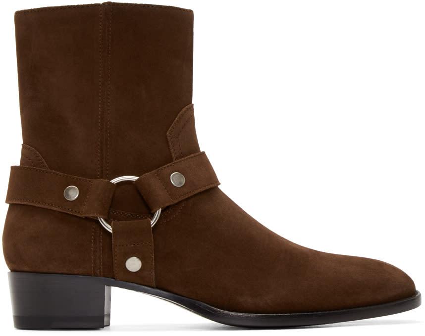 Brown Harness Wyatt Biker Boots