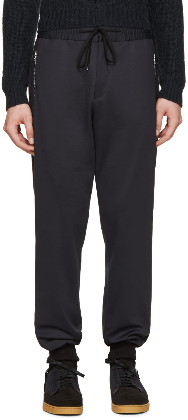 Ps By Paul Smith Navy Cuffed Lounge Pants