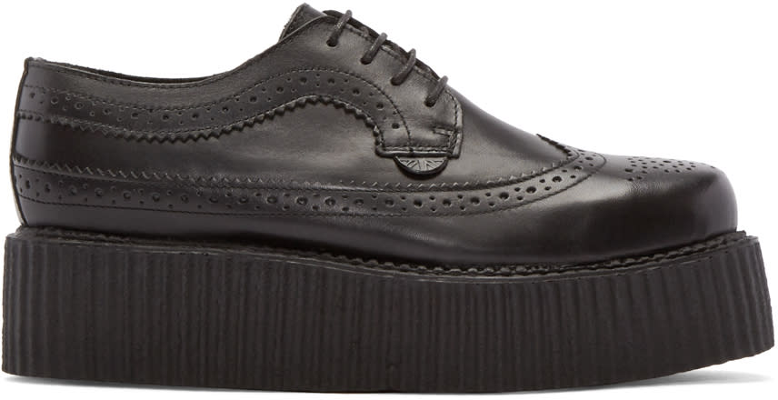 Underground Black Leather Macbeth Creepers
