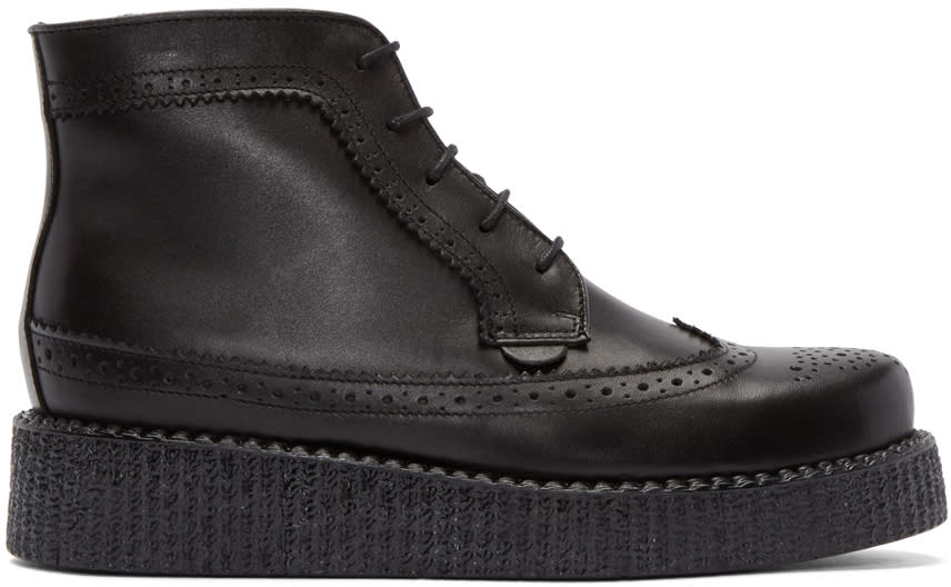 Underground Black Brogue Wulfrun Creeper Boots
