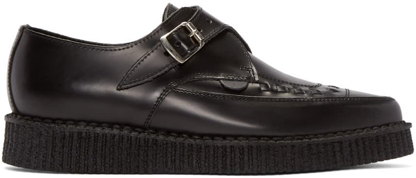 Underground Black Leather Apollo Creepers