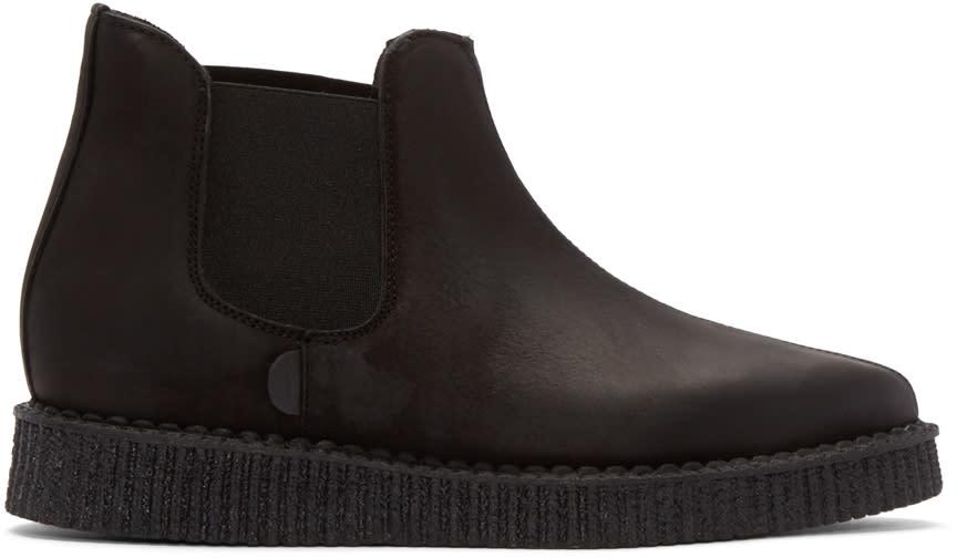 Underground Black Creeper Chelsea Boots