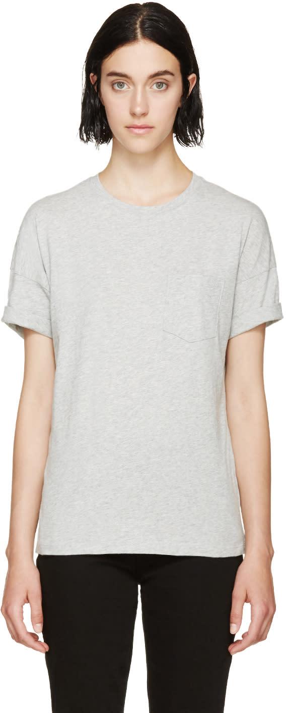 Frame Denim Heather Grey Le Boyfriend T-shirt