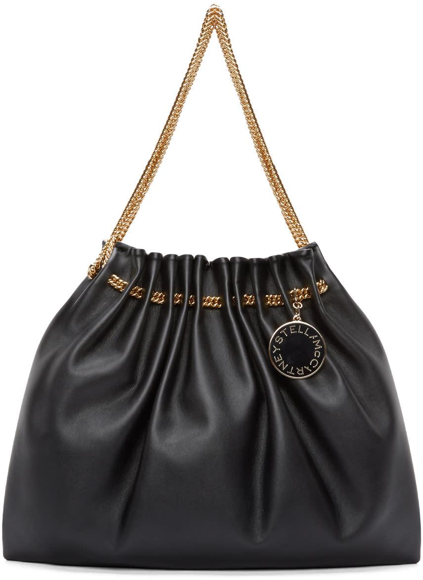 Stella Mccartney Black Chain Hobo Bag at SSENSE