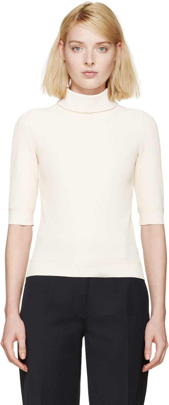 Nina Ricci Peach Turtleneck Top